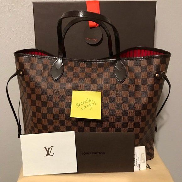 Used Louis Vuitton Bags >> Louis Vuitton Neverfull Gm Damier Ebene Used